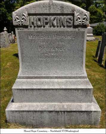 HOPKINS, PRUDENCE - Washington County, Vermont | PRUDENCE HOPKINS - Vermont Gravestone Photos