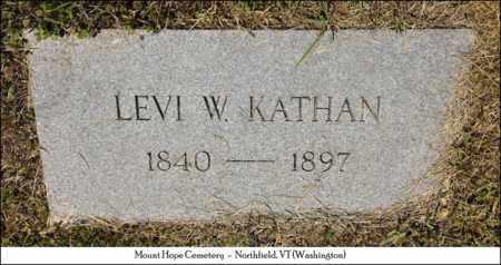 KATHAN, LEVI W. - Washington County, Vermont | LEVI W. KATHAN - Vermont Gravestone Photos