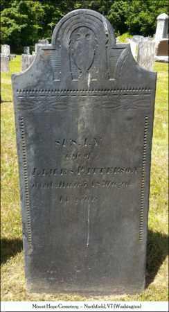 PATTERSON, SUSAN - Washington County, Vermont | SUSAN PATTERSON - Vermont Gravestone Photos