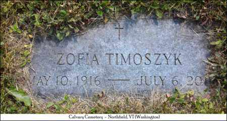 TIMOSZYK, ZOFIA - Washington County, Vermont   ZOFIA TIMOSZYK - Vermont Gravestone Photos