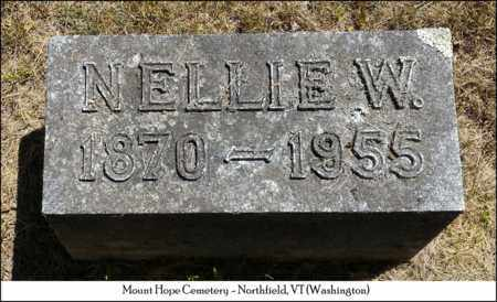 WINCH, NELLIE W. - Washington County, Vermont | NELLIE W. WINCH - Vermont Gravestone Photos