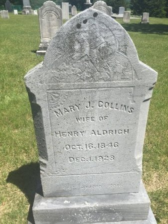 COLLINS ALDRICH, MARY JANE - Windham County, Vermont | MARY JANE COLLINS ALDRICH - Vermont Gravestone Photos