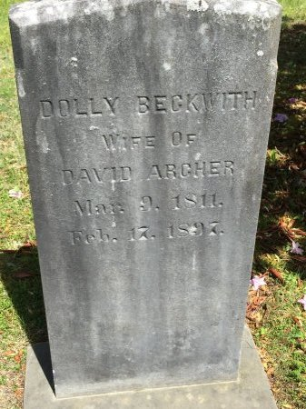 BECKWITH ARCHER, DOLLY - Windham County, Vermont | DOLLY BECKWITH ARCHER - Vermont Gravestone Photos