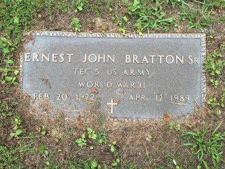 BRATTON, SR., ERNEST JOHN - Windham County, Vermont | ERNEST JOHN BRATTON, SR. - Vermont Gravestone Photos