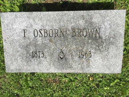 BROWN, FREDERICK OSBORN - Windham County, Vermont | FREDERICK OSBORN BROWN - Vermont Gravestone Photos