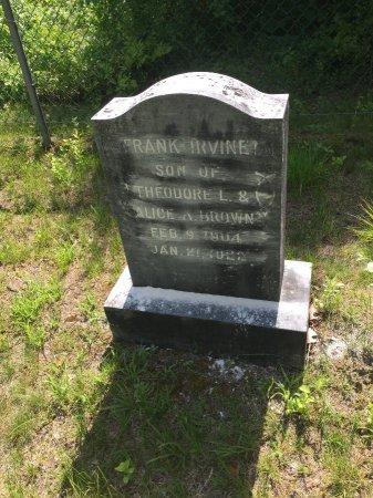 BROWN, FRANK IRVINE - Windham County, Vermont | FRANK IRVINE BROWN - Vermont Gravestone Photos