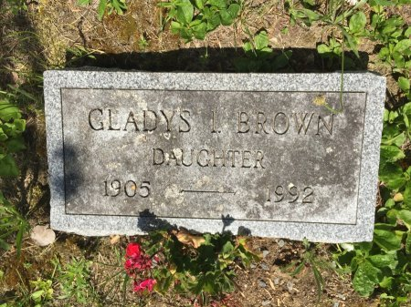BROWN, GLADYS I. - Windham County, Vermont   GLADYS I. BROWN - Vermont Gravestone Photos