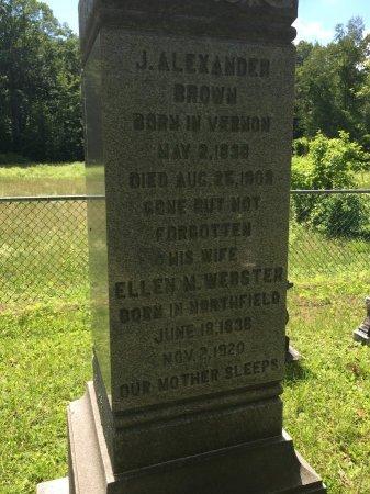 WEBSTER BROWN, ELLEN MARIA - Windham County, Vermont | ELLEN MARIA WEBSTER BROWN - Vermont Gravestone Photos