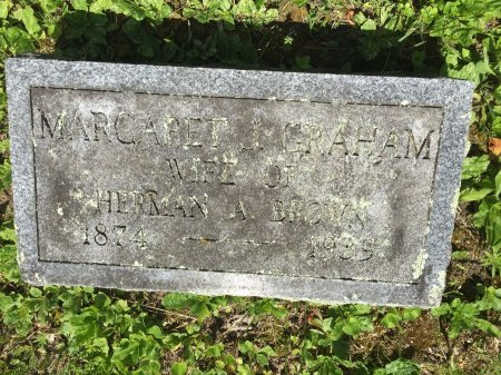 GRAHAM BROWN, MARGARET J. - Windham County, Vermont | MARGARET J. GRAHAM BROWN - Vermont Gravestone Photos