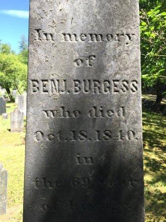 BURGESS, BENJAMIN - Windham County, Vermont | BENJAMIN BURGESS - Vermont Gravestone Photos