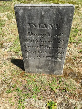 BURGESS, INFANT DAUGHTER - Windham County, Vermont | INFANT DAUGHTER BURGESS - Vermont Gravestone Photos