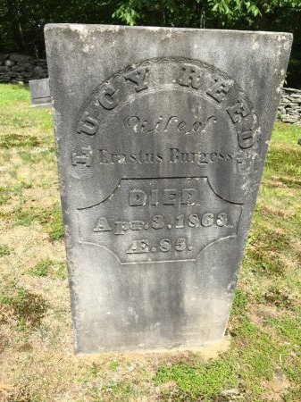 REED BURGESS, LUCY - Windham County, Vermont | LUCY REED BURGESS - Vermont Gravestone Photos