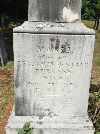 BURGESS, MARIA - Windham County, Vermont | MARIA BURGESS - Vermont Gravestone Photos