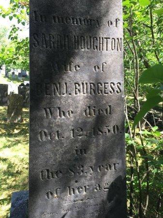 HOUGHTON BURGESS, SARAH - Windham County, Vermont | SARAH HOUGHTON BURGESS - Vermont Gravestone Photos