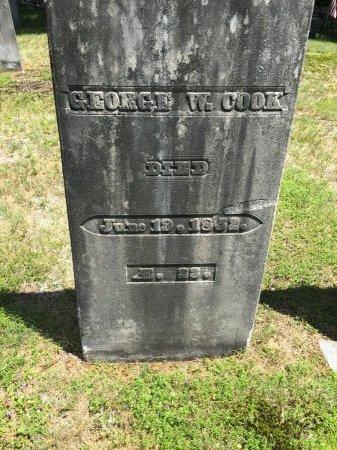 COOK, GEORGE W. - Windham County, Vermont   GEORGE W. COOK - Vermont Gravestone Photos