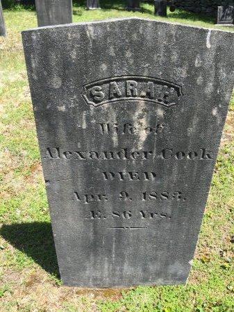 "COOK, SARAH ""SALLY"" - Windham County, Vermont | SARAH ""SALLY"" COOK - Vermont Gravestone Photos"
