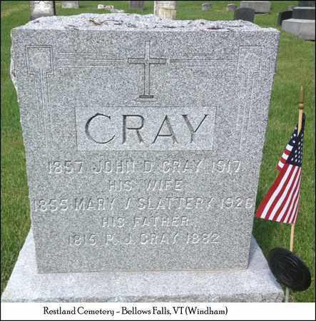 CRAY, JOHN D. - Windham County, Vermont | JOHN D. CRAY - Vermont Gravestone Photos