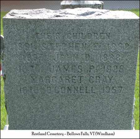 CRAY O'CONNELL, MARGARET E. - Windham County, Vermont   MARGARET E. CRAY O'CONNELL - Vermont Gravestone Photos