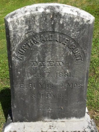DAVENPORT, AUSTIN A. - Windham County, Vermont | AUSTIN A. DAVENPORT - Vermont Gravestone Photos