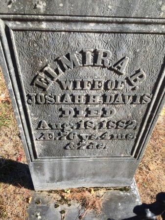 SMALLEY DAVIS, ELMIRA B. - Windham County, Vermont | ELMIRA B. SMALLEY DAVIS - Vermont Gravestone Photos