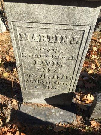 DAVIS, MARTIN J. - Windham County, Vermont   MARTIN J. DAVIS - Vermont Gravestone Photos