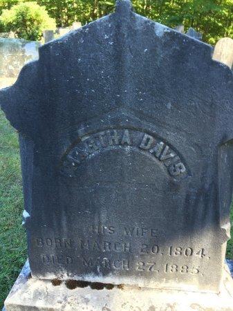 "DAVIS EASTMAN, MARTHA ""PATTY"" - Windham County, Vermont | MARTHA ""PATTY"" DAVIS EASTMAN - Vermont Gravestone Photos"