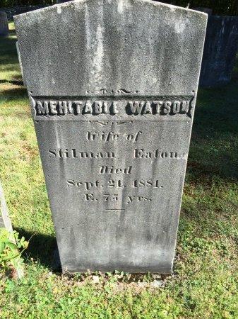 WATSON EATON, MEHITABLE - Windham County, Vermont | MEHITABLE WATSON EATON - Vermont Gravestone Photos