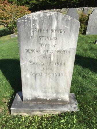 STEVENS ELLSWORTH, ESTHER BOWES - Windham County, Vermont | ESTHER BOWES STEVENS ELLSWORTH - Vermont Gravestone Photos