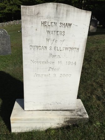 "ELLSWORTH, HELEN SHAW ""SALLY"" - Windham County, Vermont | HELEN SHAW ""SALLY"" ELLSWORTH - Vermont Gravestone Photos"