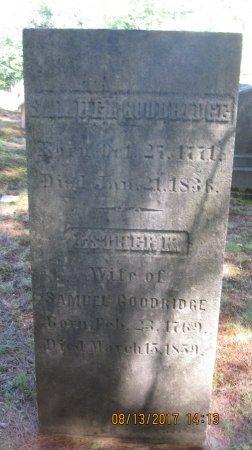 GOODRIDGE, ESTHER - Windham County, Vermont | ESTHER GOODRIDGE - Vermont Gravestone Photos