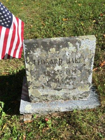HAKEY, LEONARD DAVID - Windham County, Vermont | LEONARD DAVID HAKEY - Vermont Gravestone Photos