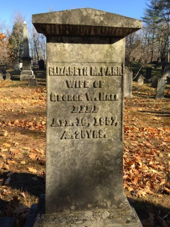 PARK HALL, ELIZABETH M. - Windham County, Vermont | ELIZABETH M. PARK HALL - Vermont Gravestone Photos