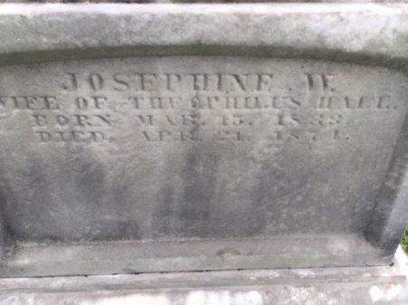 HALL, JOSEPHINE W. - Windham County, Vermont | JOSEPHINE W. HALL - Vermont Gravestone Photos
