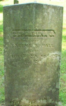 HALL, ZEPHARENA J. - Windham County, Vermont | ZEPHARENA J. HALL - Vermont Gravestone Photos