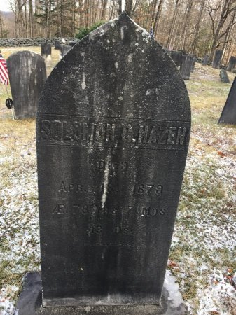 HAZEN, SOLOMON G. - Windham County, Vermont   SOLOMON G. HAZEN - Vermont Gravestone Photos