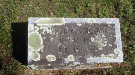 KINGSBURY, LEONARD ARTHUR - Windham County, Vermont | LEONARD ARTHUR KINGSBURY - Vermont Gravestone Photos