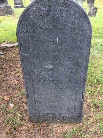 KINNE, THOMAS - Windham County, Vermont | THOMAS KINNE - Vermont Gravestone Photos