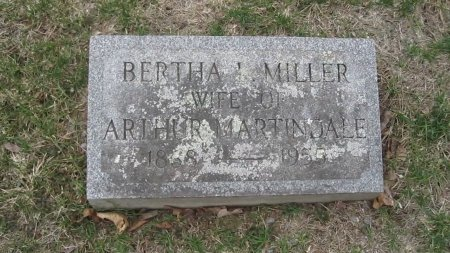 MILLER MARTINDALE, BERTHA LENA - Windham County, Vermont | BERTHA LENA MILLER MARTINDALE - Vermont Gravestone Photos