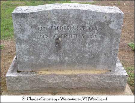 MAY, JOSEPHINE S. - Windham County, Vermont   JOSEPHINE S. MAY - Vermont Gravestone Photos