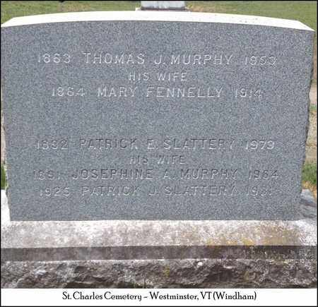 MURPHY SLATTERY, JOSEPHINE A. - Windham County, Vermont | JOSEPHINE A. MURPHY SLATTERY - Vermont Gravestone Photos