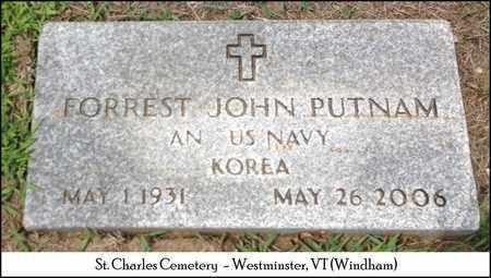 PUTNAM, FORREST JOHN - Windham County, Vermont | FORREST JOHN PUTNAM - Vermont Gravestone Photos