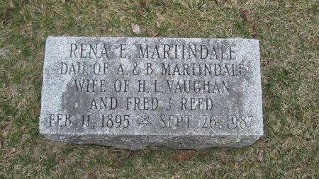 MARTINDALE-VAUGHN REED, RENA EVELYN - Windham County, Vermont | RENA EVELYN MARTINDALE-VAUGHN REED - Vermont Gravestone Photos