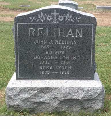 LYNCH RELIHAN, JOHANNA - Windham County, Vermont | JOHANNA LYNCH RELIHAN - Vermont Gravestone Photos