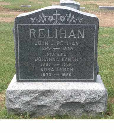 LYNCH RELIHAN, JOHANNA - Windham County, Vermont | JOHANNA LYNCH RELIHAN - Vermont Gravestone Photos