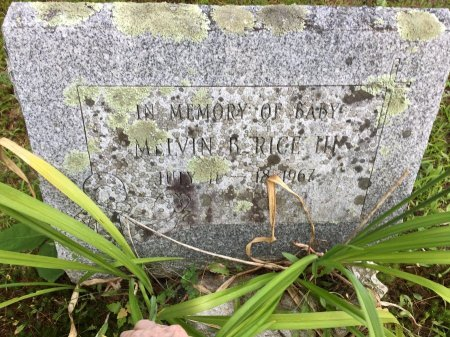 RICE III, BABY MELVIN B. - Windham County, Vermont   BABY MELVIN B. RICE III - Vermont Gravestone Photos