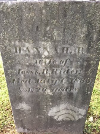 BLODGETT RIDER, HANNAH PEASE - Windham County, Vermont | HANNAH PEASE BLODGETT RIDER - Vermont Gravestone Photos