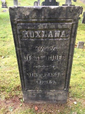 RIDER, ROXLANA - Windham County, Vermont | ROXLANA RIDER - Vermont Gravestone Photos