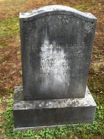 ROGERS, MELVINA FLORETTA - Windham County, Vermont | MELVINA FLORETTA ROGERS - Vermont Gravestone Photos