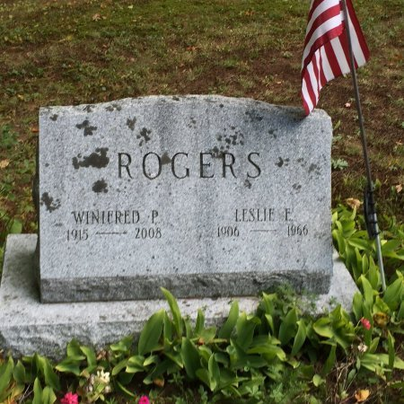 LAWRENCE ROGERS, WINIFRED PERKINS - Windham County, Vermont | WINIFRED PERKINS LAWRENCE ROGERS - Vermont Gravestone Photos