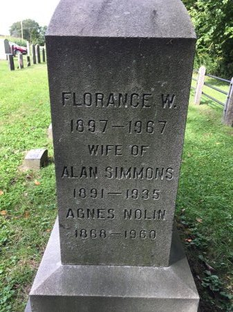 SIMMONS, FLORANCE - Windham County, Vermont | FLORANCE SIMMONS - Vermont Gravestone Photos